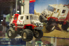 LEGO technic. Each year, one of the largest LEGO fans in the world takes place in Jaarbeurs in Utrecht, Netherlands. The exhibition is called LEGOWORLD Royalty Free Stock Photos