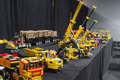 LEGO technic. Each year, one of the largest LEGO fans in the world takes place in Jaarbeurs in Utrecht, Netherlands. The exhibition is called LEGOWORLD Royalty Free Stock Photography