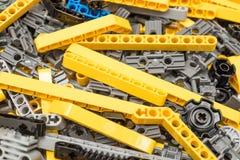 Lego Technic Pieces Pile Close upp Arkivbilder