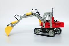 Lego Technic uppsättning inga 8851, grävskopa arkivfoton