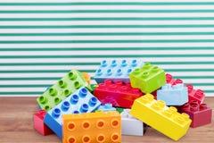 Lego tegelstenar Arkivbilder