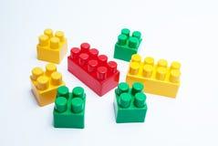 Lego tegelstenar Arkivfoto