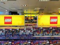 LEGO-teller in het winkelcomplex stock foto's