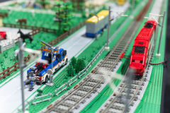 LEGO thalys train Stock Photos