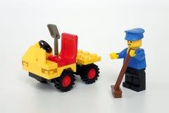 Lego Town stellte kein ein 6607, Service-LKW lizenzfreies stockfoto