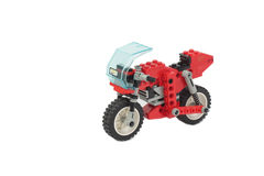 Lego toy motorcycle Royalty Free Stock Image