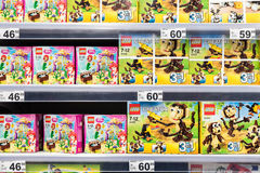 Lego Toys For Sale On Supermarket Shelf Royalty Free Stock Image
