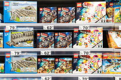 Lego Toys For Sale On Supermarket Shelf Royalty Free Stock Photography