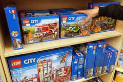 Lego in a toys store Stock Images