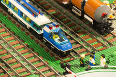 LEGO train detail Stock Photo