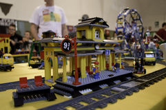 Lego train station Stock Photo