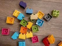 Lego värld royaltyfri bild