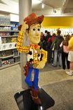 Lego Woody in downtown Disney royalty free stock photos