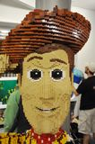 Lego Woody in downtown Disney Stock Image