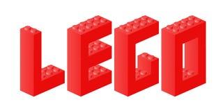 Lego Ziegelsteinzeichen stock abbildung