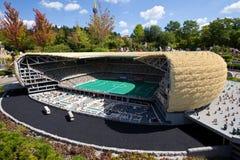 Legoland. Allianz arena i Munich Arkivbild