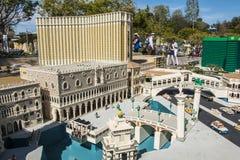 Legoland California - Carlsbad, San Diego County, California. Las Vegas Lego Model - Legoland California - Legoland California is a theme park, miniature park Stock Photography
