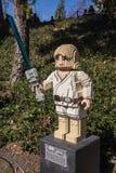 Legoland California - Carlsbad, San Diego County, California. Luke Skywalker - Star Wars Lego Model - Legoland California - Legoland California is a theme park Royalty Free Stock Images