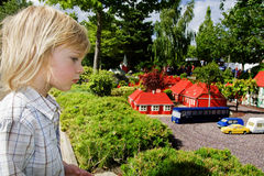 Legoland del parco a tema del bambino Fotografia Stock