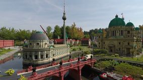 LEGOLAND Deutschland Resort miniature city in Gunzburg. stock footage