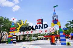 Legoland florida. The main entrance to Legoland Florida. Located in Winter Haven, Florida, Legoland Florida is a theme park based on the popular LEGO brand of Stock Images