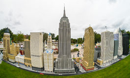 Legoland Florida Miniland skyline dos EUA - New York Fotos de Stock Royalty Free