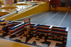Legoland - Lego car racing track for kids Royalty Free Stock Image