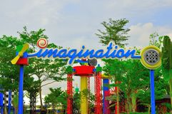 Legoland Malaysia. The arch of the imagination park in Legoland Malaysia which consists of a number of fun rides including roller coaster. Legoland Malaysia is Stock Photo