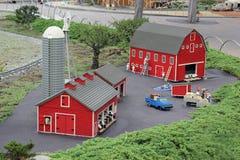 Legoland Miniature, CA. Legoland miniature at Legoland, CA. Display of a farm life in the United States Royalty Free Stock Photography