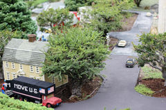 Legoland miniatyr, CA Arkivbild