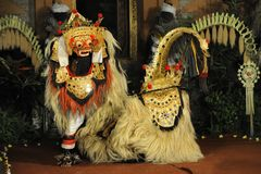 Legong and barong dance Royalty Free Stock Image