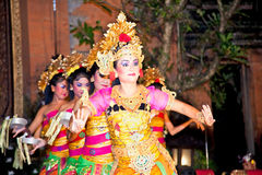 Legong Dance & Ramayana by the Bina Remaja Troupe Stock Photos