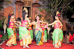 Legong Dance & Ramayana by the Bina Remaja Troupe Stock Photo