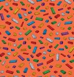 Legopatroon Vector tekening Royalty-vrije Stock Fotografie