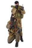 Legosoldater med AK 47 och raketgeväret Royaltyfri Bild