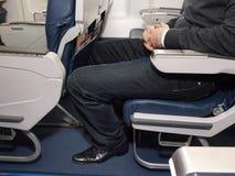 Legroom auf Verkehrsflugzeug lizenzfreies stockbild