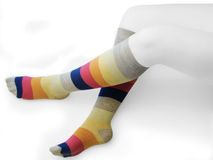 Legs. Sock Royalty Free Stock Photography