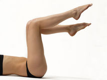 Legs. Long legs on white background Stock Photo