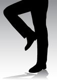 Legs. Of business man silhouette stock illustration