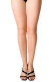 Legs. Female legs in black shoes Stock Photos