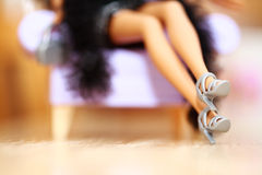 Legs. Sensuality beautiy legs of doll barbie Royalty Free Stock Photo