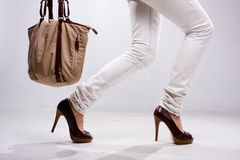 Legs And Bag Royalty Free Stock Photos