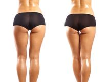 Legs and ass of a young and beautiful woman Royalty Free Stock Image