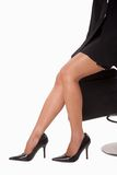 Legs of attractive businesswoman Stock Photos