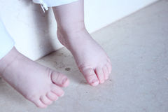 Legs of baby Royalty Free Stock Image