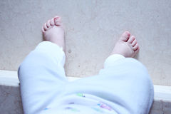 Legs of baby Royalty Free Stock Photo