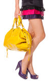 Legs and a bag Stock Photography