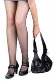 Legs and bag Stock Image
