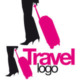 Legs bag travel logo element Royalty Free Stock Image