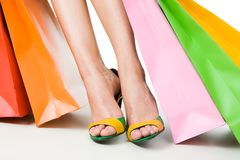 Legs and bags Stock Photography